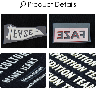 3D Effect heat transfer sticker
